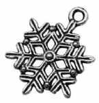 Snowflake charms antique silver (pack of 5)